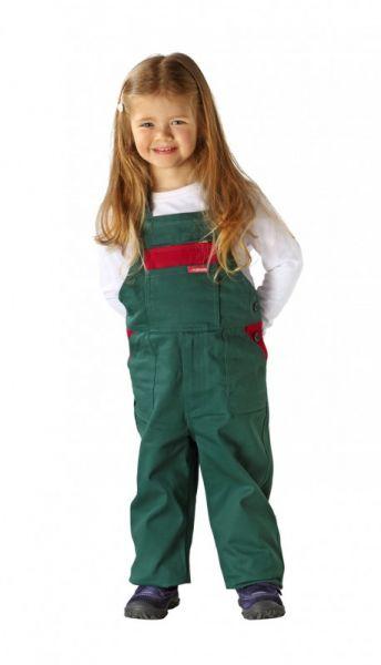 Planam Kinder Latzhose grün