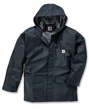 Carhartt Wasserdichte Jacke aus PVC mit verstärkter Front