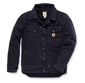 Carhartt Jacke mit gewaschenem Baumwollcanvas Außenmaterial