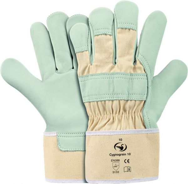 Bau Handschuhe aus Rindnarbenleder mit Stulpe Cygnograin 10