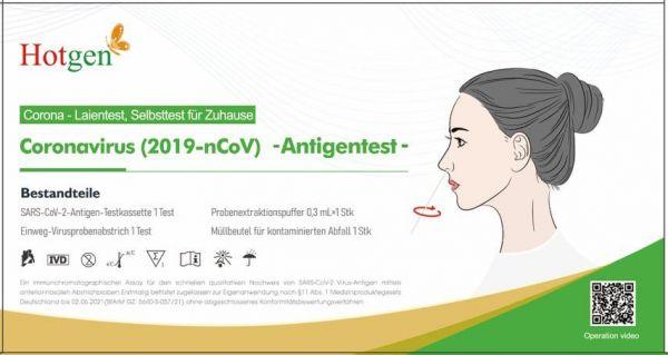 LAIEN Antigen Nasen-Abstrichest - Hotgen Novel Coronavirus 2019-nCoV Antigen Test (5 Tests pro Box)