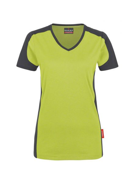 Hakro Women V-Shirt Contrast Performance 190